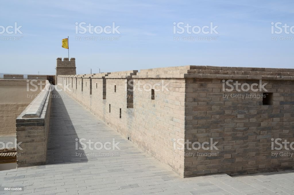 Jiayuguan fort, Gansu, China royalty-free stock photo