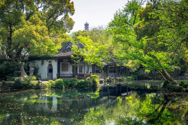 Jichang Garten, die historische Stätte in Huishan antike Stadt in der Stadt Wuxi, China. – Foto