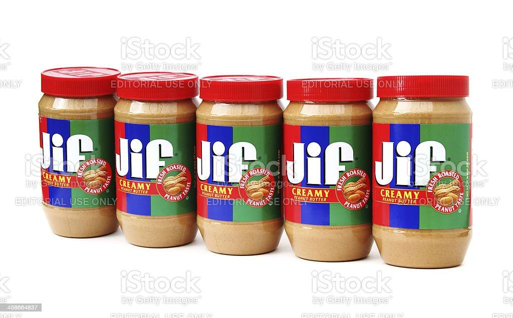 Jif Creamy Peanut Butter stock photo