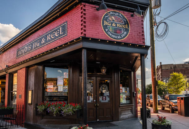 Jig and Reel Pub in The Old City stock photo