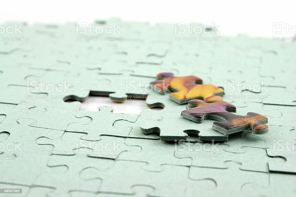 Jigsaw - 3 Bits out royalty-free stock photo