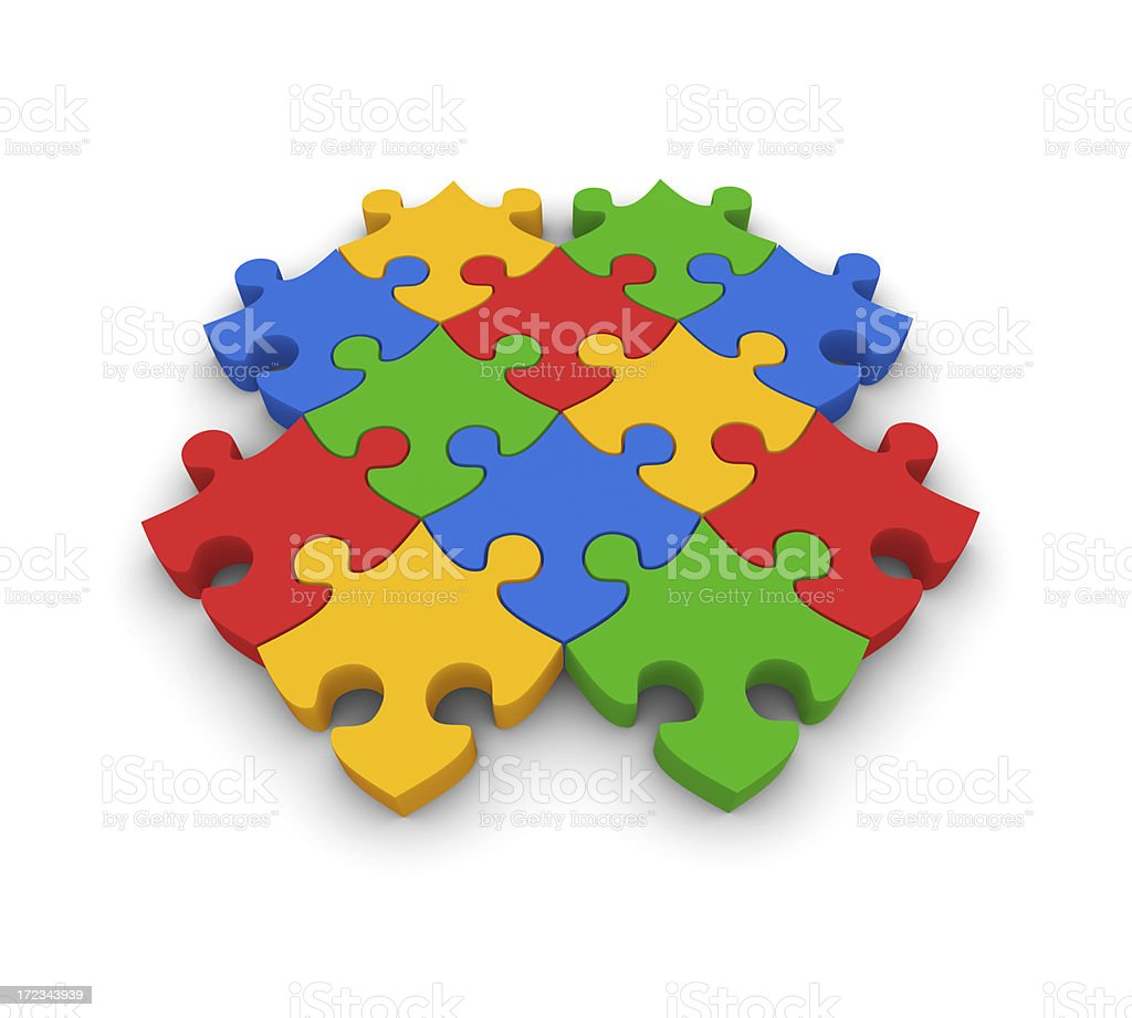Jigsaw formation royalty-free stock photo