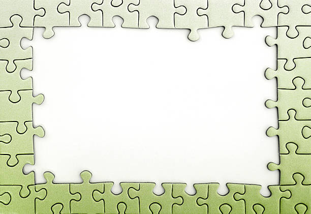 Best Puzzle Green Frame Jigsaw Puzzle Stock Photos, Pictures