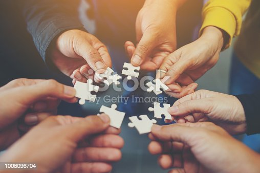 istock Jigsaw is a harmony among the group will not be impossible. 1008096704