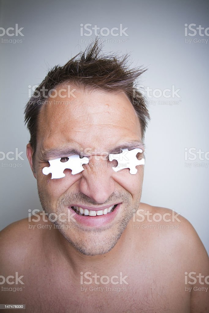 Jigsaw Man royalty-free stock photo