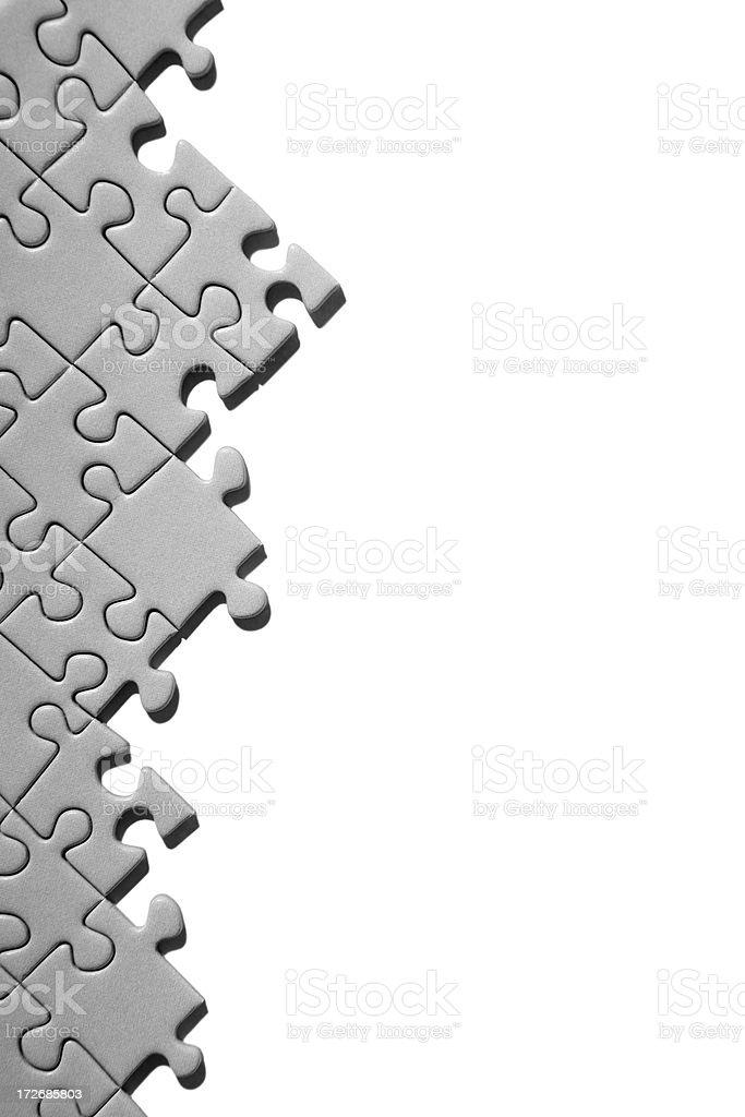 Jigsaw margin royalty-free stock photo