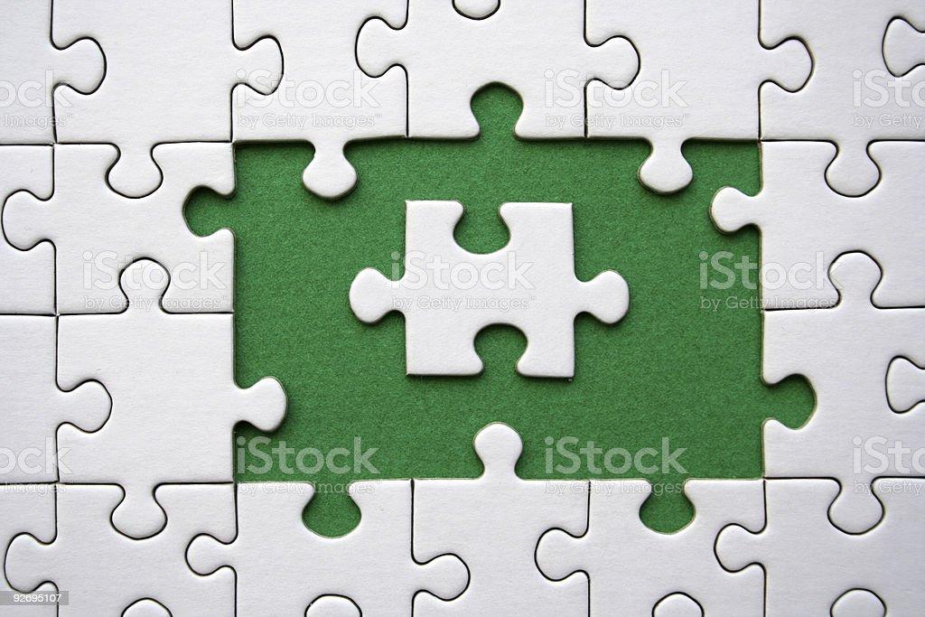 Jigsaw  (conceptual) royalty-free stock photo