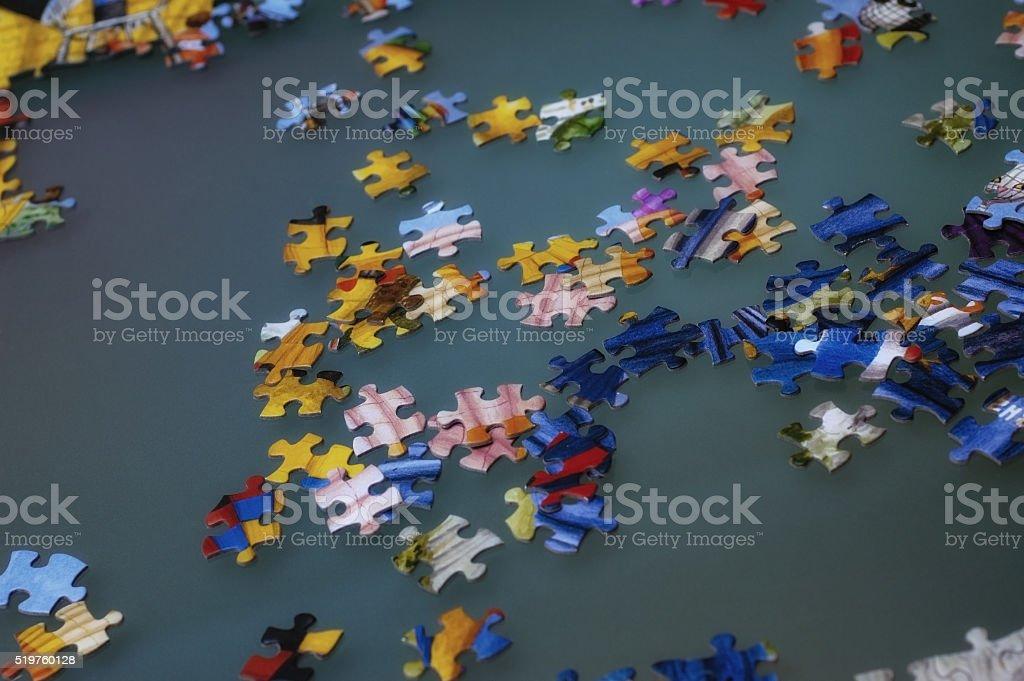 Jigsaw Piece stock photo
