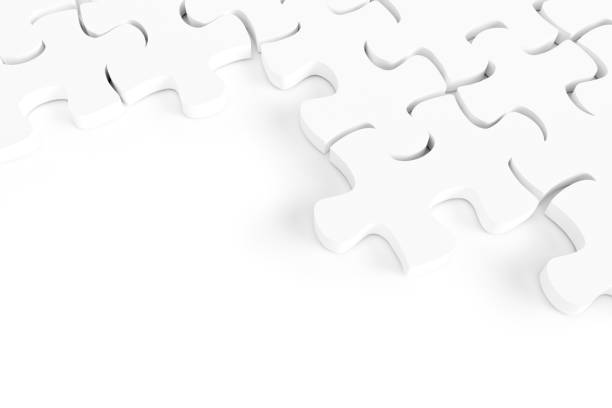 jigsaw piece.solution concept - puzzles stock photos and pictures