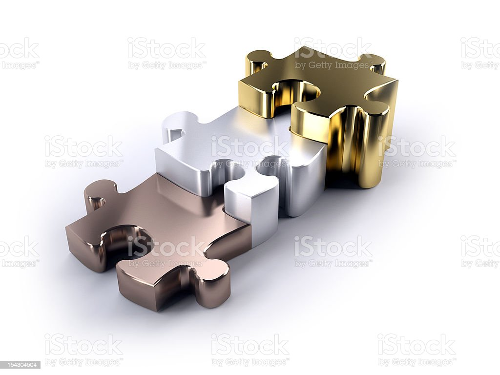 Jigsaw poduim stock photo