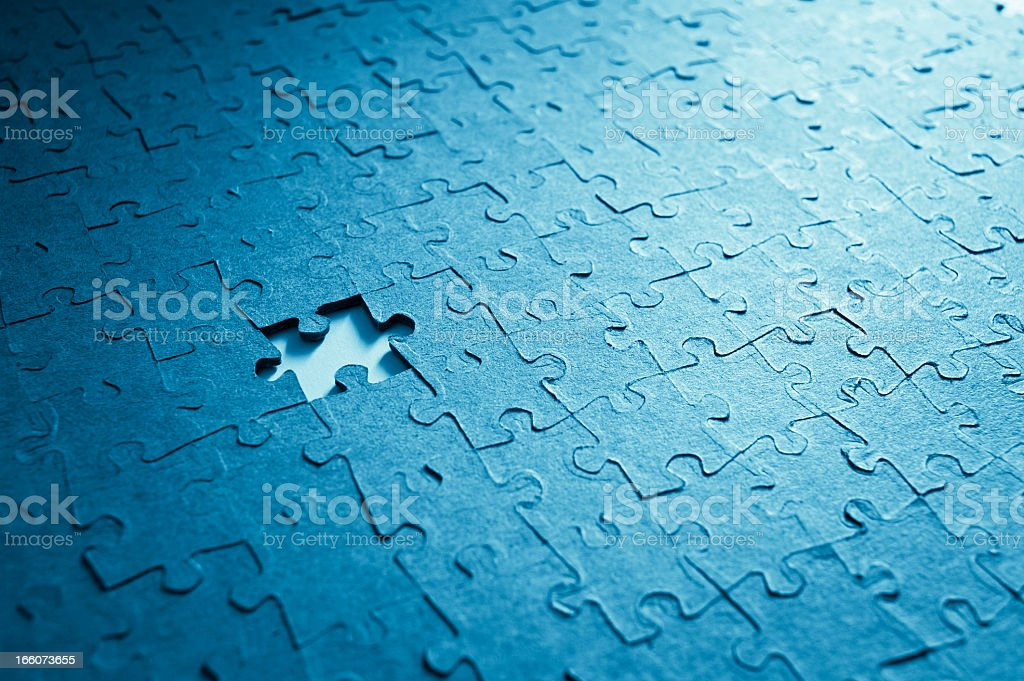 Jigsaw Puzzle And Missing Piece royalty-free stock photo