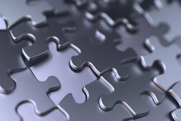 jigsaw puzzle-hintergrund - puzzleteile stock-fotos und bilder