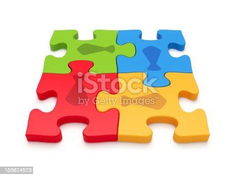 istock Jigsaw Puzzle Business Teamwork 155624523