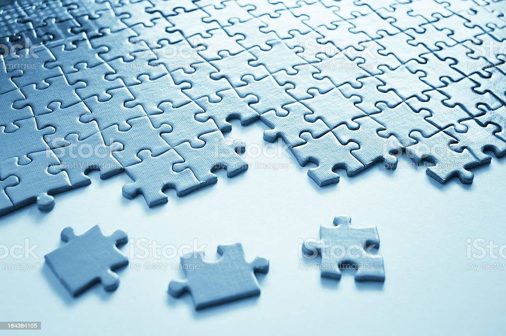 Jigsaw Puzzle Close Up royalty-free stock photo