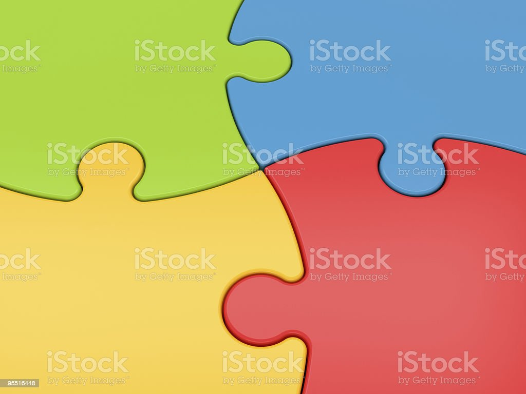 Jigsaw Puzzle Close-up stock photo