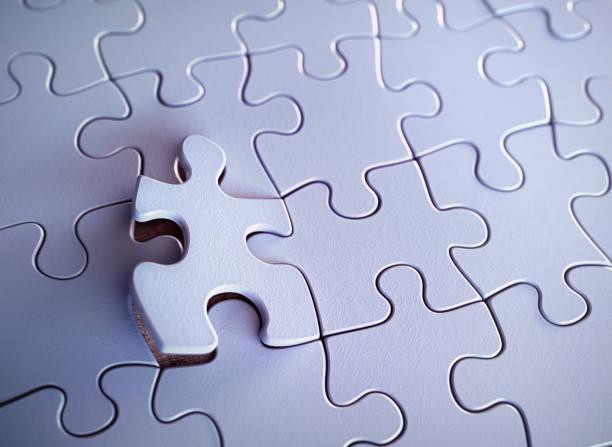 Jigsaw Puzzle vorgestellten Stück – Foto