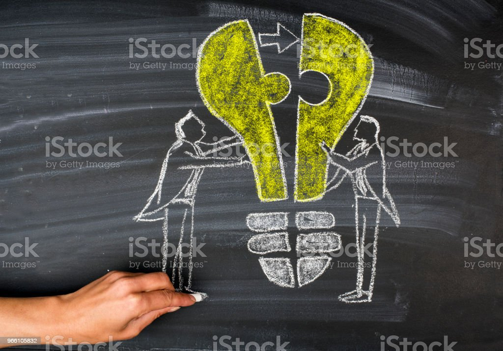 Jigsaw Puzzle idea concept - Royalty-free A Helping Hand Stock Photo
