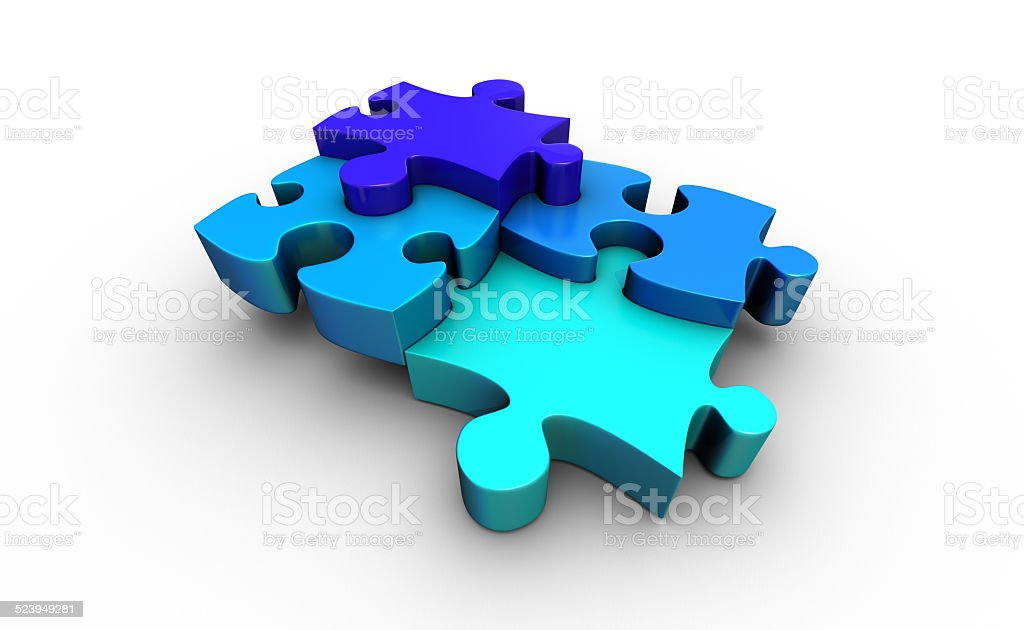 Jigsaw Puzzle stock photo