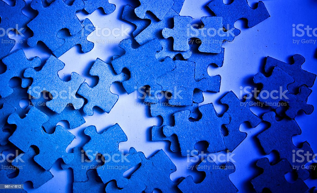 Jigsaw puzzle foto stock royalty-free