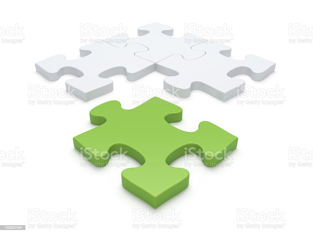 Jigsaw Puzzle Piece Vacancy stock photo