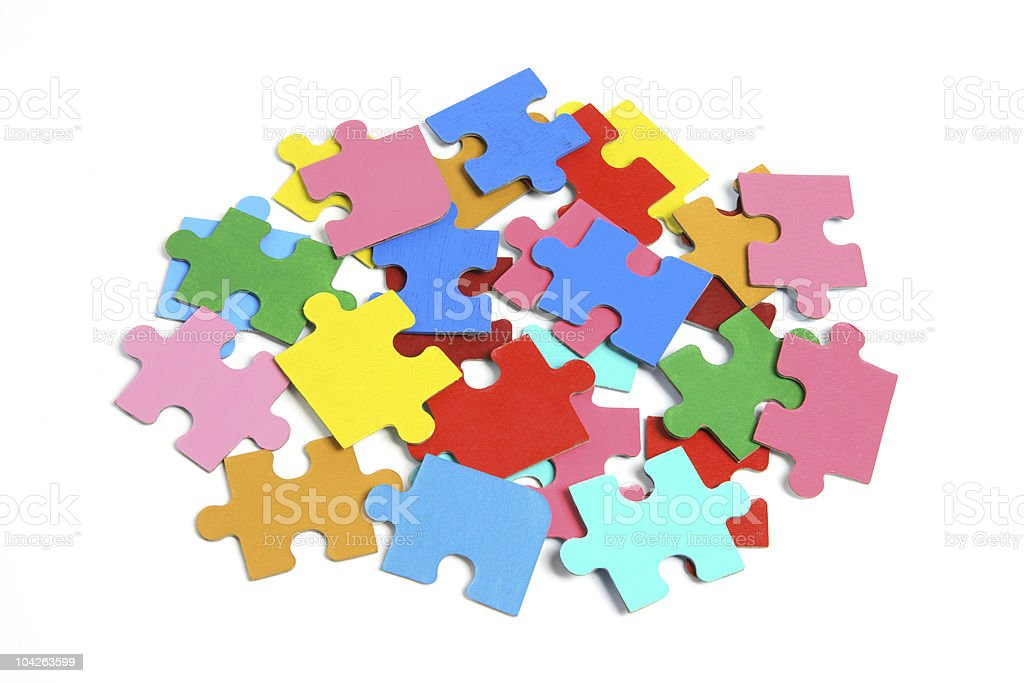 Jigsaw Puzzle Pieces royalty-free stock photo