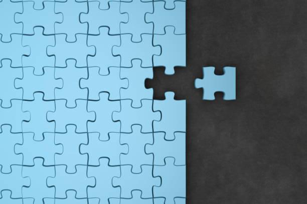 stukken van de puzzel - geheel stockfoto's en -beelden