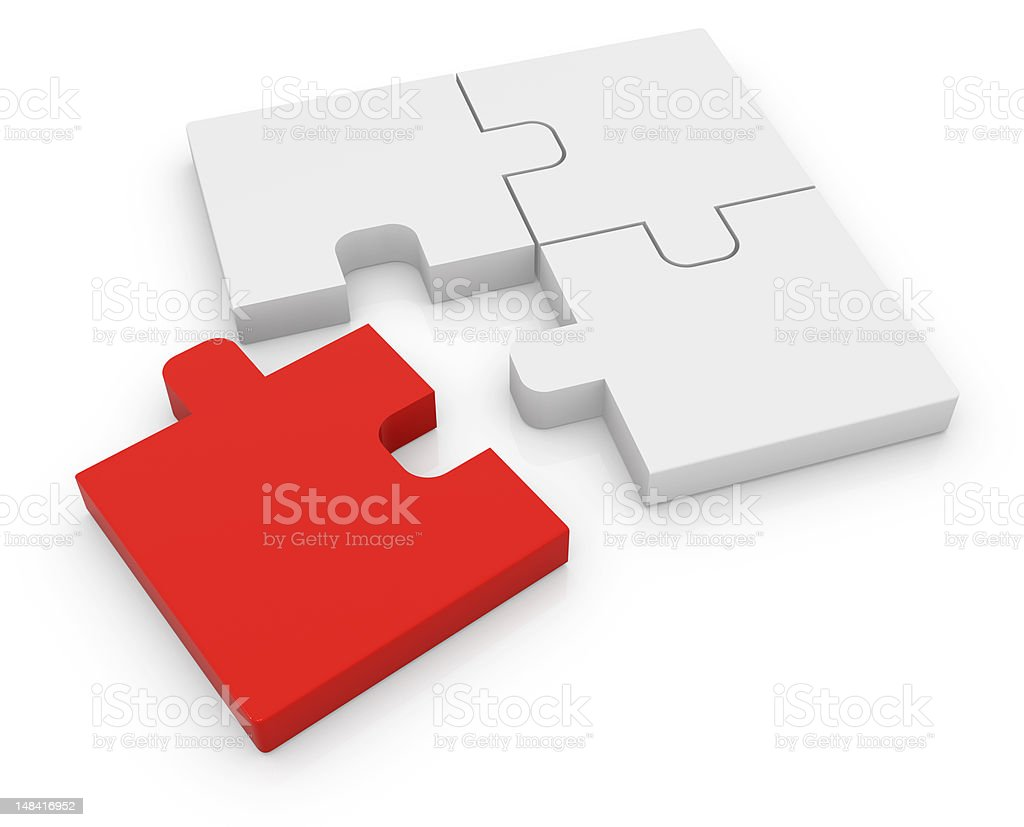 Jigsaw Puzzle Series royalty-free stock photo
