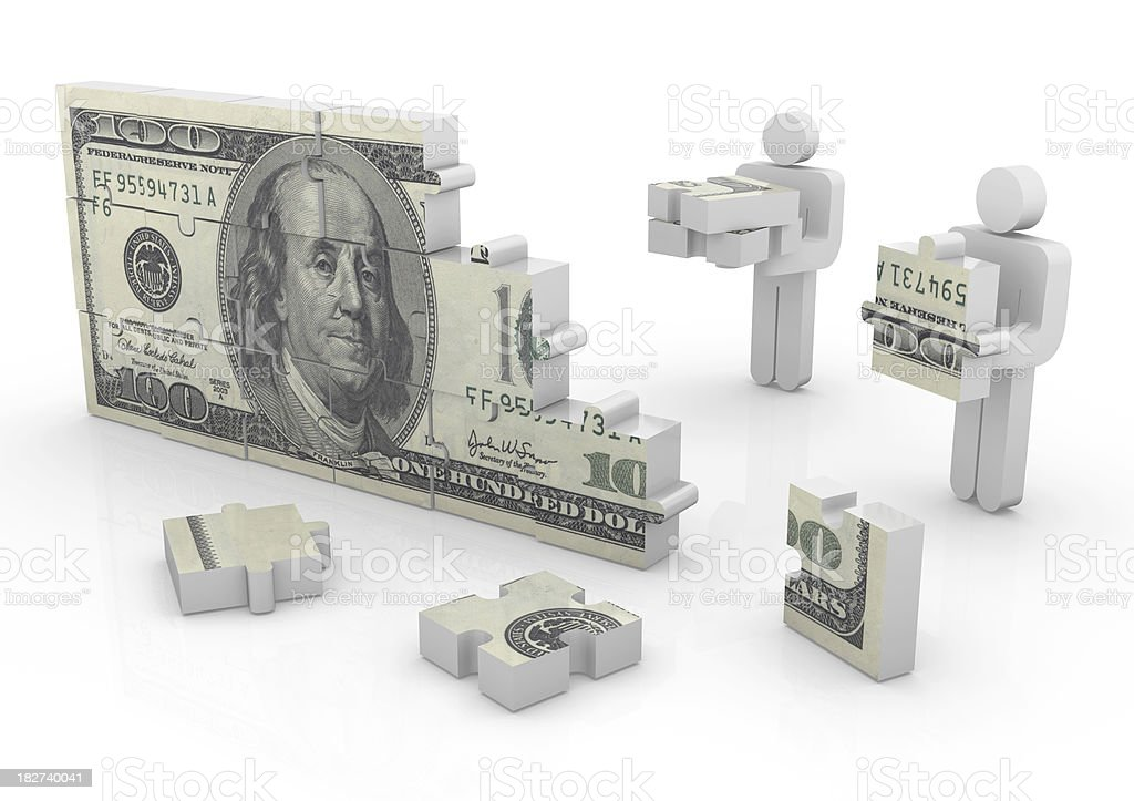 Jigsaw Puzzle Series stock photo