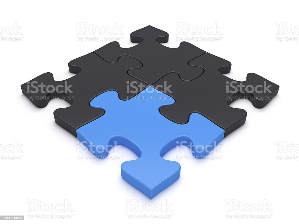 Jigsaw Puzzle Simple Solution royalty-free stock photo
