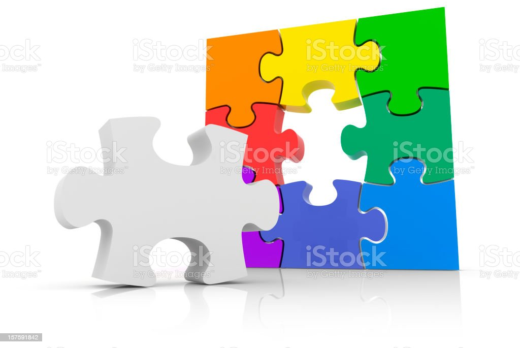 Jigsaw Puzzle Solution royalty-free stock photo