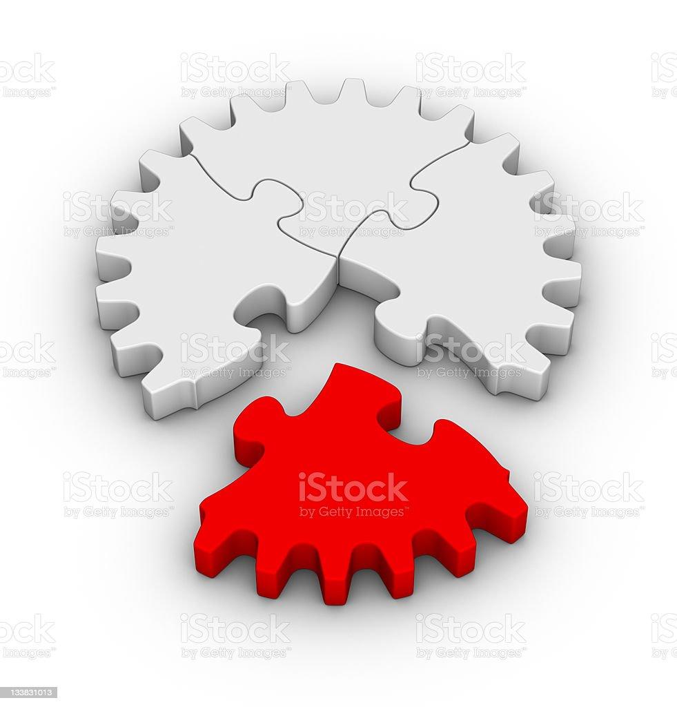 jigsaw puzzles gear royalty-free stock photo