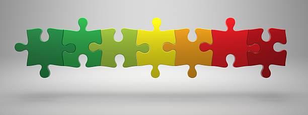 Jigsaw puzzles stock photo