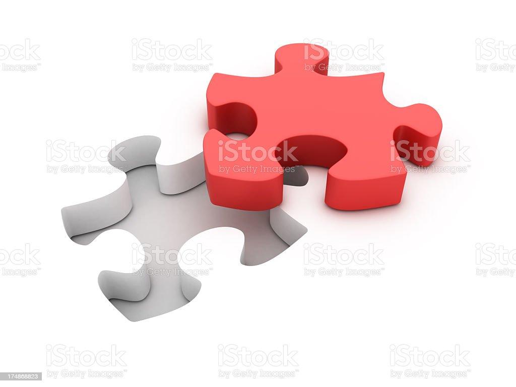Jigsaw Shape Hole royalty-free stock photo