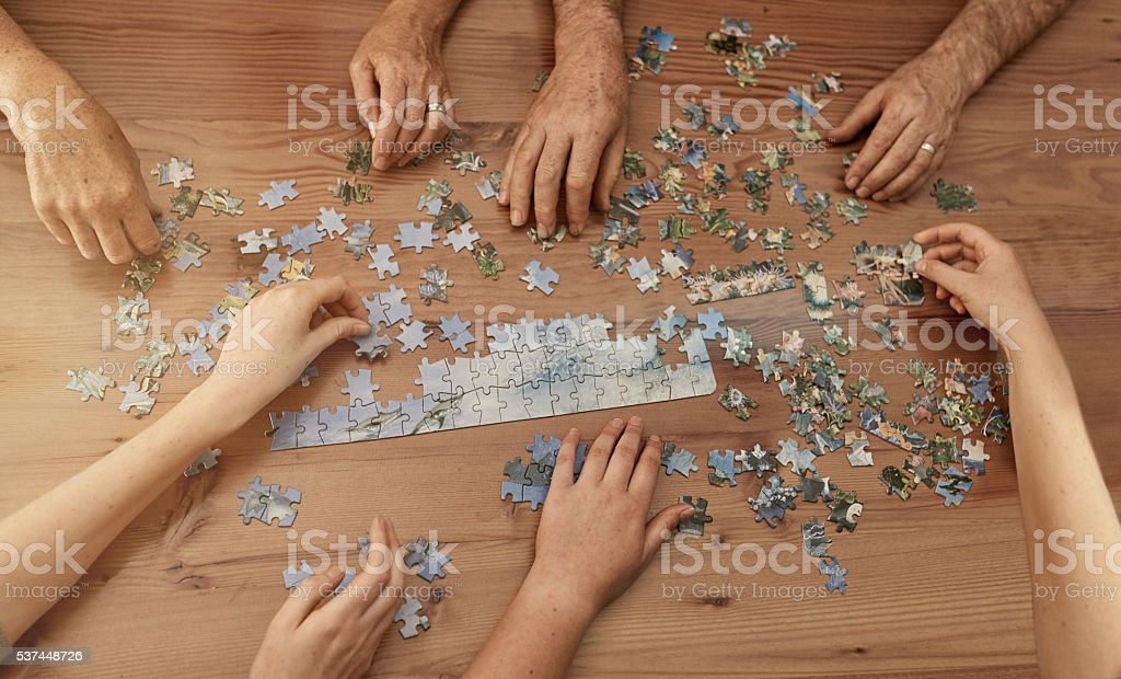 Jigsaw solutions stock photo