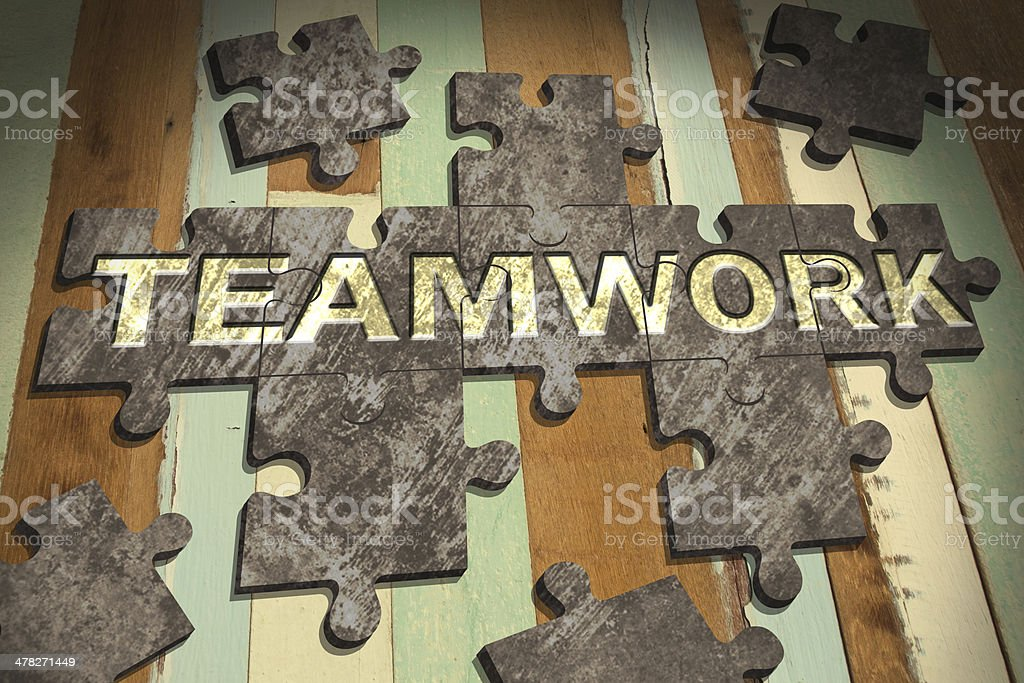 jigsaw teamwork royalty-free stock photo