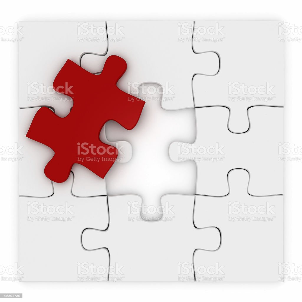 JigsawPuzzle royalty-free 스톡 사진