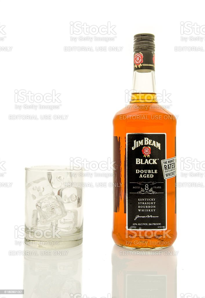 Jim Beam Black Whisky stock photo