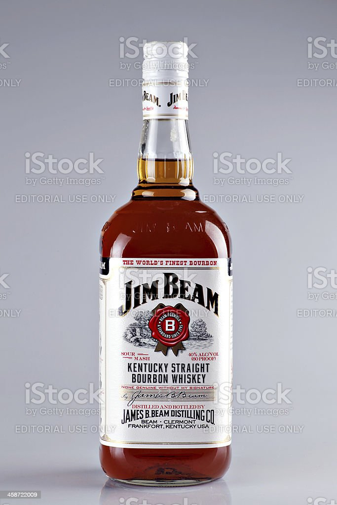 jim beam bourbon whiskey bottle stock photo more pictures of abuse