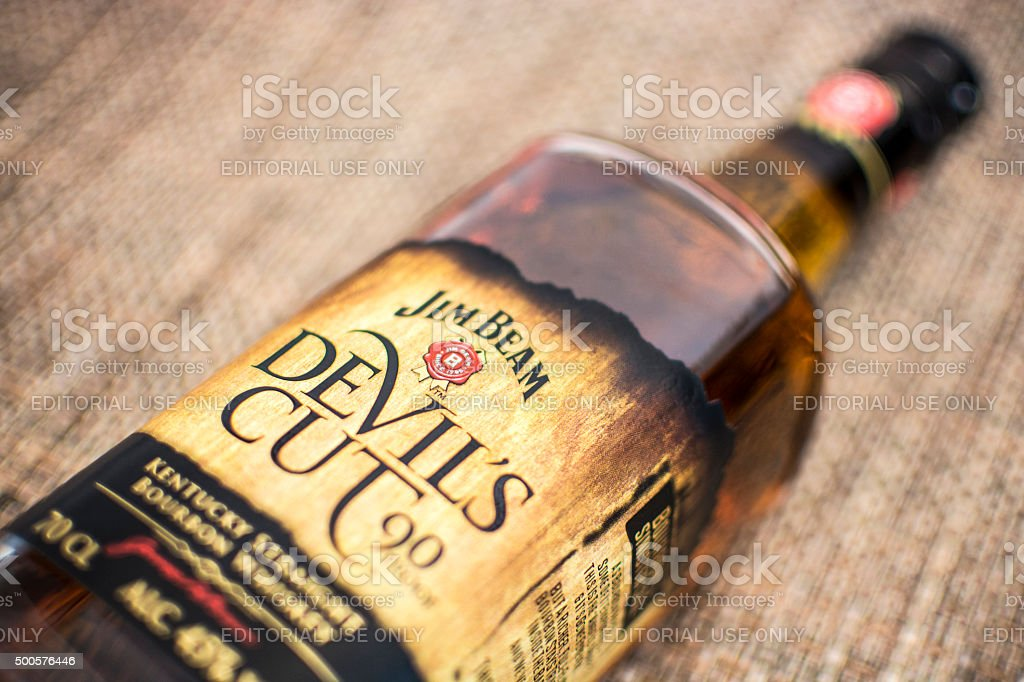 Jim Beam - Devil's Cut stock photo