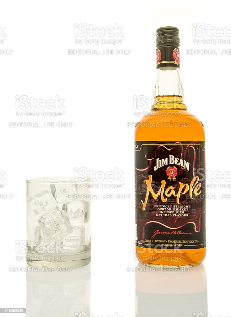 Jim Beam Maple Whisky stock photo