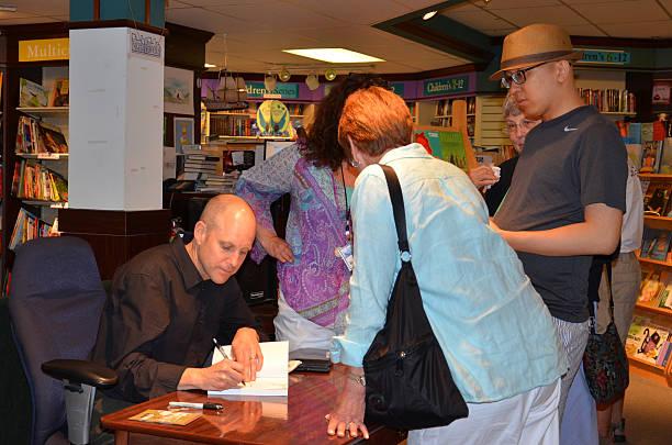 Jim Ottaviani at Nicola's Books June 2013 stock photo