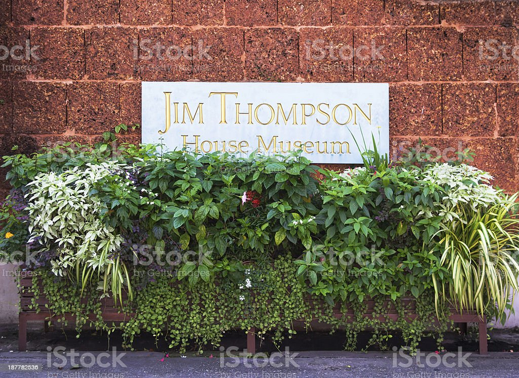 Jim Thompson House & Museum, tourist destinations in Bangkok, Thailand. royalty-free stock photo
