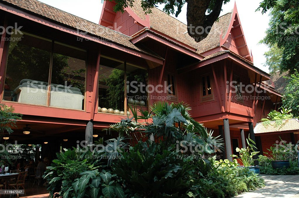 Jim Thompson's House in Bangkok Thailand stock photo
