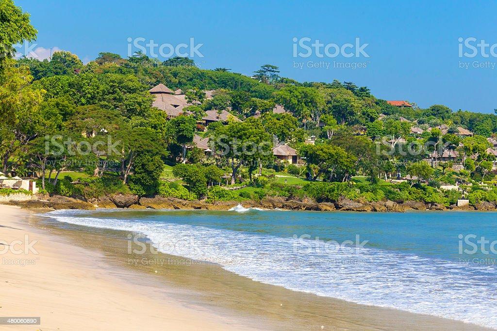 Jimbaran beach in Bali, Indonesia stock photo