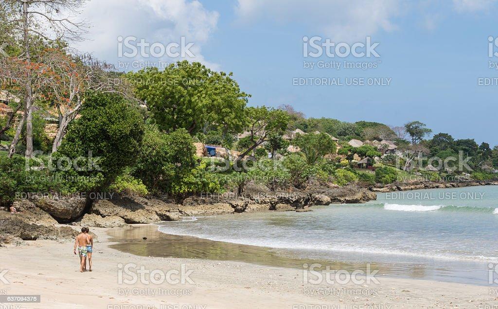 Jimbaran Beach in Bali. stock photo