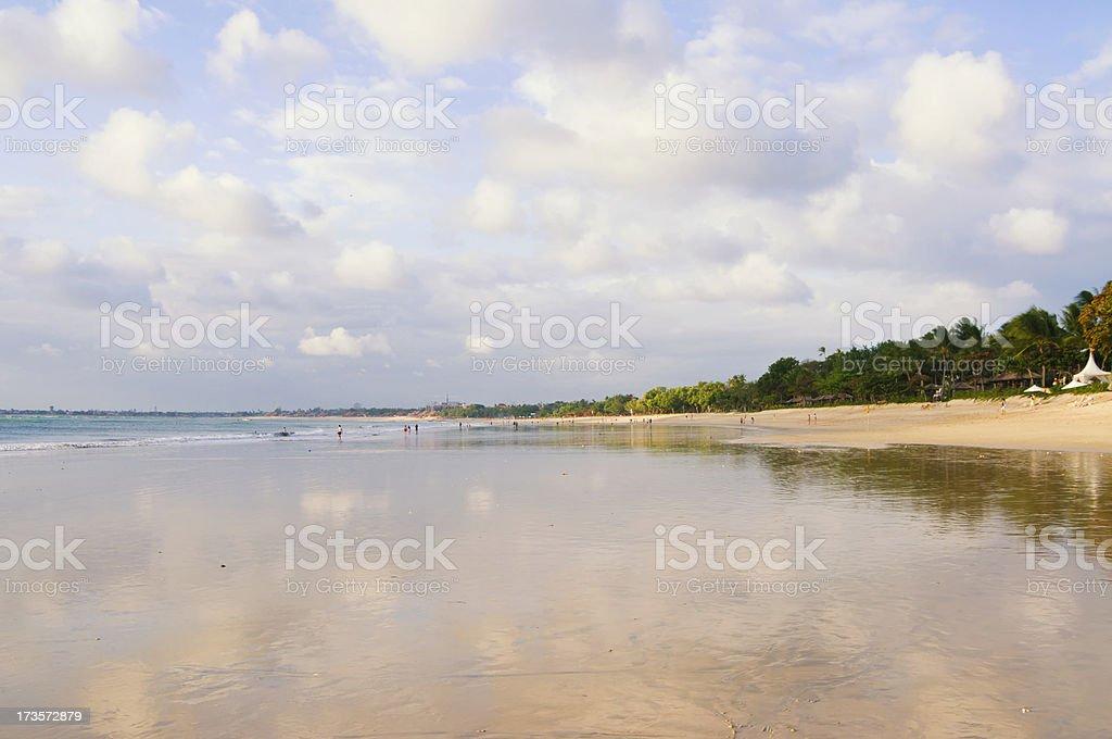 Jimbaran Beach stock photo