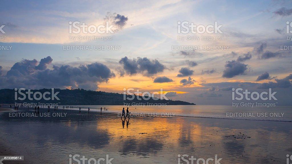 Jimbaran Beach Sunset stock photo