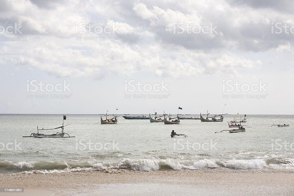 Jimbaran view Bali stock photo