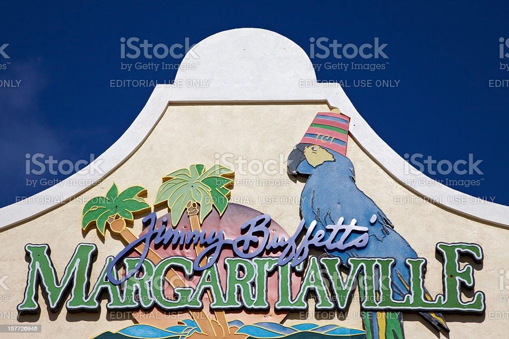 Jimmy Buffetts Margaritaville, Grand Turk, Caribbean royalty-free stock photo