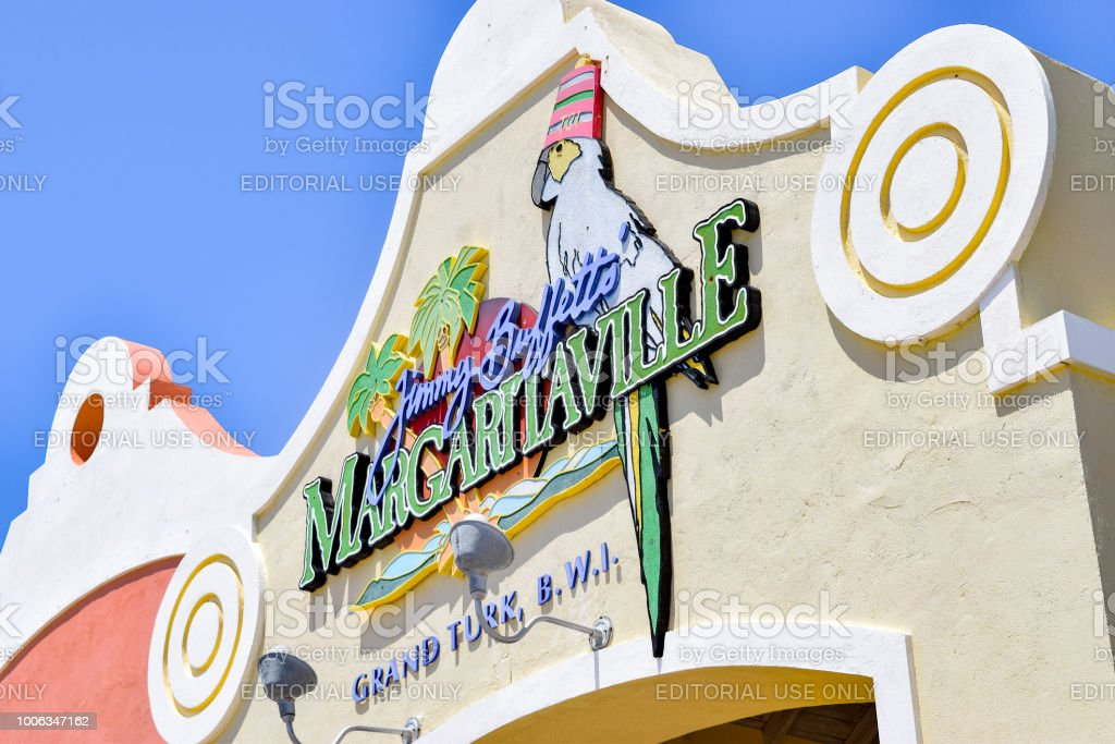 Jimmy Buffett's Margaritaville in Grand Turk stock photo